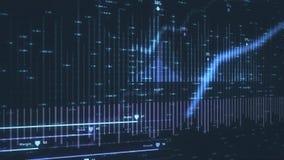 Animazione che descrive i dati finanziari moderni illustrazione vettoriale