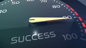 Animazione concettuale di vendite, di lavoro di squadra, di sforzo, di prestazione, di successo, di sppedometer o dell'indicatore stock footage