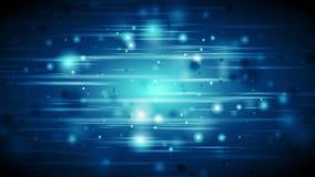 Animazione d'ardore defocused blu scuro del video delle luci stock footage