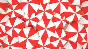 Animazione degli ombrelli di spiaggia illustrazione vettoriale