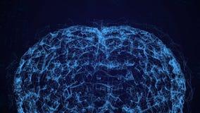 Animazione del cervello, data mining, studio approfondito su tecnologie informatiche moderne Il modello del cervello umano ha con royalty illustrazione gratis