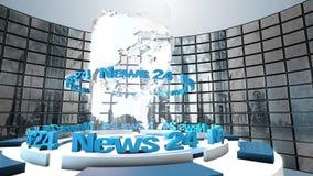 Animazione del ciclo del mondo di radiodiffusione Immagine Stock