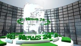 Animazione del ciclo del mondo di radiodiffusione Immagini Stock Libere da Diritti