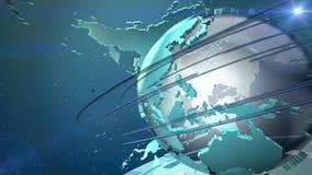 Animazione del ciclo del mondo di radiodiffusione stock footage