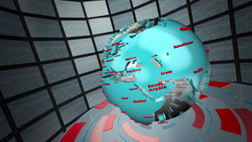 Animazione del ciclo del mondo di radiodiffusione Fotografia Stock Libera da Diritti