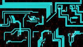 Animazione del circuito con le piste comparenti illustrazione vettoriale