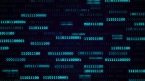 Animazione del codice binario nel colore blu video d archivio