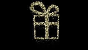 Animazione del contenitore di regalo di Natale della particella, Alpha Channel, ciclo senza cuciture archivi video