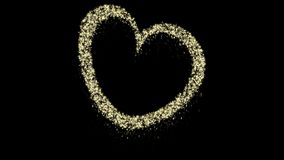 Animazione del cuore di Natale della particella, alfa canale, ciclo senza cuciture video d archivio