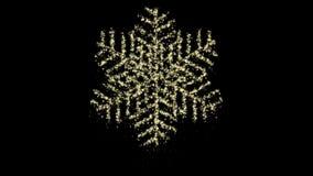 Animazione del fiocco di neve di Natale della particella, alfa canale, ciclo senza cuciture stock footage