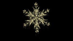 Animazione del fiocco di neve di Natale della particella, alfa canale, ciclo senza cuciture video d archivio