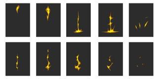 Animazione del fulmine Fotografia Stock