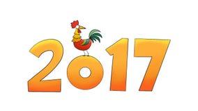 animazione 2017 del gallo stock footage
