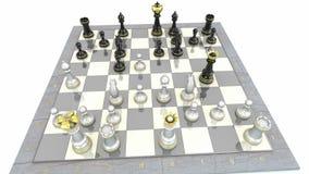 Animazione del gioco di scacchiera illustrazione di stock
