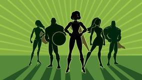 Animazione del gruppo 3 del supereroe video d archivio