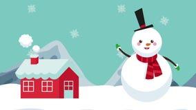 Animazione del pupazzo di neve e della Camera HD royalty illustrazione gratis