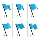 Animazione della bandiera per la progettazione dei giochi e delle applicazioni Fotografie Stock