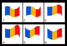 Animazione della bandiera rumena Immagini Stock