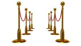 Animazione della barriera dorata della corda royalty illustrazione gratis