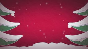 Animazione della cartolina di Natale video d archivio