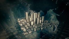 Animazione della città video d archivio
