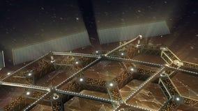 Animazione dello spazio di una struttura di favo girante royalty illustrazione gratis
