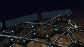 Animazione dello spazio di una struttura di favo girante stock footage