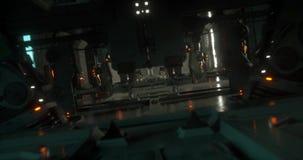 Animazione dentro un'astronave di fantascienza stock footage