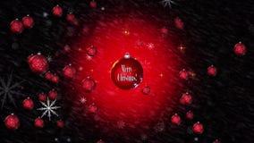 Animazione di Buon Natale stock footage