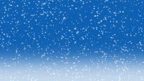Animazione di caduta della neve 4K illustrazione di stock