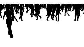 Animazione di camminata della gente stock footage
