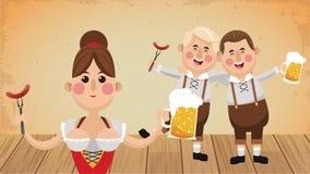 Animazione di celebrazione HD del fest di Oktober royalty illustrazione gratis