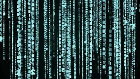 Animazione di ciclaggio della pioggia di codice binario della matrice illustrazione di stock