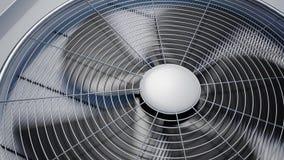 Animazione di ciclaggio di rotazione dell'unità di raffreddamento di ventilazione di HVAC stock footage