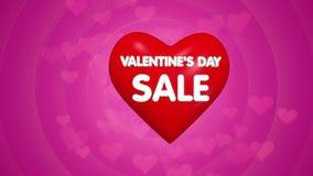 Animazione di concetto di titolo di offerta di vendita di giorno di biglietti di S. Valentino illustrazione vettoriale