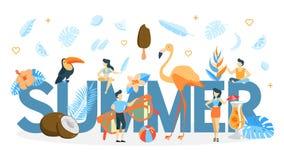 Animazione di concetto di estate illustrazione di stock