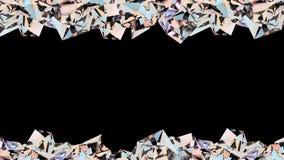 Animazione di cristallo del ciclo del confine illustrazione di stock