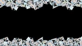 Animazione di cristallo del ciclo del confine royalty illustrazione gratis