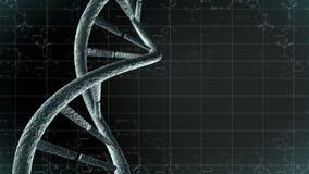 Animazione di DNA genetico con il fondo di scienza 4K Ciclo-capace illustrazione di stock