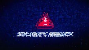 Animazione di errori di effetto di distorsione di impulso errato di strappo di rumore di Digital del testo della violazione della video d archivio