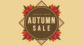 Animazione di giorno di autunno di promozione di sconto di acquisto illustrazione vettoriale