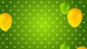 Animazione di giorno della st Patricks video con i palloni variopinti video d archivio