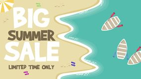 Animazione di grande vendita di estate royalty illustrazione gratis