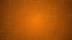 Animazione di superficie geometrica poligonale dell'estratto Poli fondo basso molle pulito di moto Ciclo senza cuciture illustrazione di stock