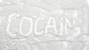 Animazione di titolo della cocaina video d archivio