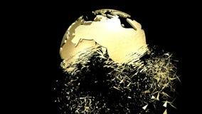 Animazione di un globo girante della terra Fotografia Stock