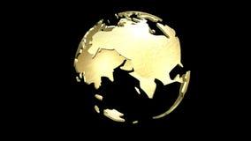 Animazione di un globo girante della terra Immagini Stock