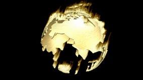 Animazione di un globo girante della terra Fotografie Stock