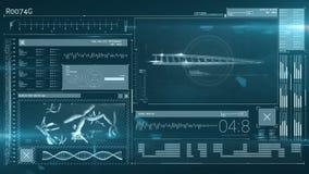 Animazione di un'interfaccia di tecnologia