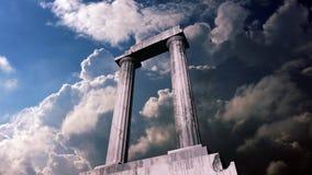 Animazione di un pezzo del resti di un tempio del greco antico royalty illustrazione gratis